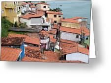 Favela In Salvador Da Bahia Brazil Greeting Card
