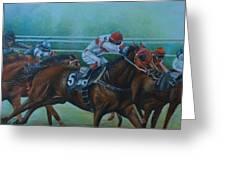 Favorite, Horse Race Art Greeting Card