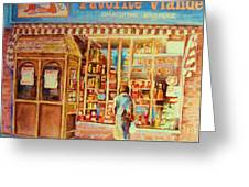 Favorite Viande Market Greeting Card
