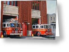 Fdny Engine 88 And Ladder 38 Greeting Card