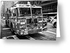 fdny engine New York City USA Greeting Card