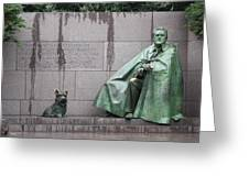 Fdr Memorial - Neither New Nor Order Greeting Card