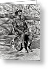 Fdr Memorial Sculpture In Wheelchair Greeting Card