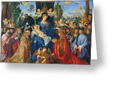 Feast Of Rose Garlands Greeting Card