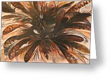 Feather Bloom Greeting Card