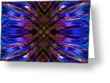 Feathered Stained Glass Greeting Card