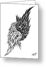 Feathered Ying Yang  Greeting Card