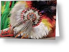 Feathers And Beads Greeting Card