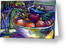 February Still Life In Angelinas Kitchen 3 Greeting Card