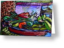 February Still Life In Angelinas Kitchen 5 Greeting Card