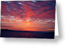 February Sunrise Greeting Card