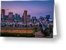 Federal Hill In Baltimore Maryland Greeting Card