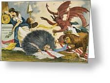 Federalist Cartoon, C1799 Greeting Card