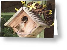 Feeding Birds Greeting Card