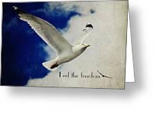 Feel The Freedom Greeting Card