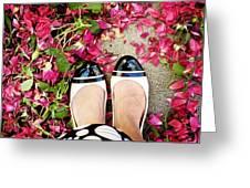 Feet Around The World #18 Greeting Card