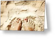 Feet Around The World #4 Greeting Card