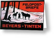 Feldpost-briefe - Beyers-tinten - Two Man With Horses - Retro Travel Poster - Vintage Poster Greeting Card