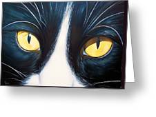 Feline Face 2 Greeting Card