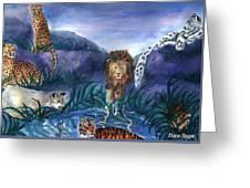 Feline Origins Greeting Card