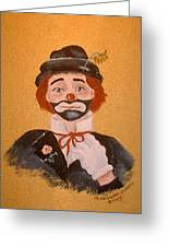 Felix The Clown Greeting Card
