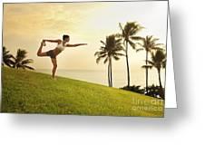 Female Doing Yoga Greeting Card