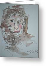 Female  Face Study  A Greeting Card