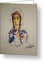 Female Face Study S Greeting Card