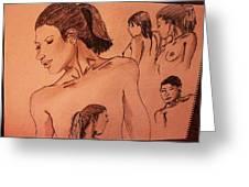 Female Figures Greeting Card