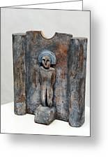 Female Figurine - Goddess Worship - Matrone - Matrones -matronen - Matrona - Diosa-nettersheim Eifel Greeting Card by Urft Valley Art