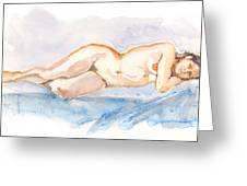 Female Nude 04 Greeting Card