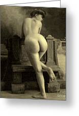 Female Nude, Circa 1900 Greeting Card