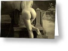 Female Nude, Circa 1900 Greeting Card