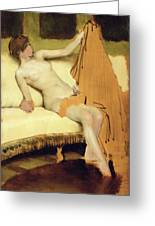 Female Nude Greeting Card by Sir Lawrence Alma-Tadema
