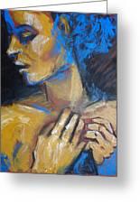 Feminine - Portrait Of A Woman Greeting Card
