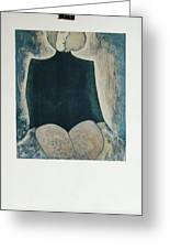 Femme Assise Greeting Card