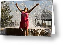 Femme Fountain Greeting Card by Al Powell Photography USA