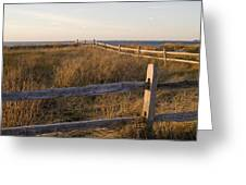 Fence Along The Dunes - Madaket - Nantucket Greeting Card