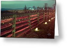Fence And Luminaries 11 Greeting Card