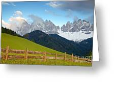 Fence At Val Di Funne Greeting Card