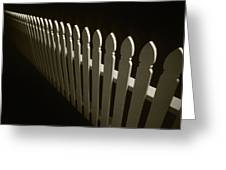 Fence Bw Greeting Card