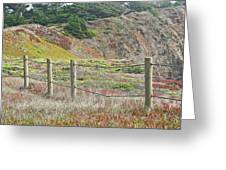 Fence Fort Fungston Greeting Card