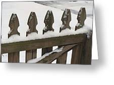 Fence In The Snow Greeting Card