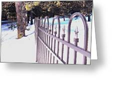 Fence Lines Greeting Card