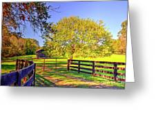 Fence Pasture And Barn 1721 Greeting Card