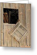 Fence Posts In Barn Greeting Card