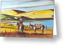 Fence Rider Going Home Greeting Card