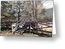 Fence Stile Greeting Card