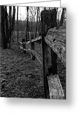 Fence To Nowhere Greeting Card