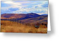 Fence Views Wyoming Color Greeting Card